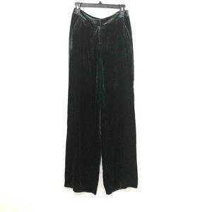 NWT Boden Green Velvet Wide Leg Pant Size 4